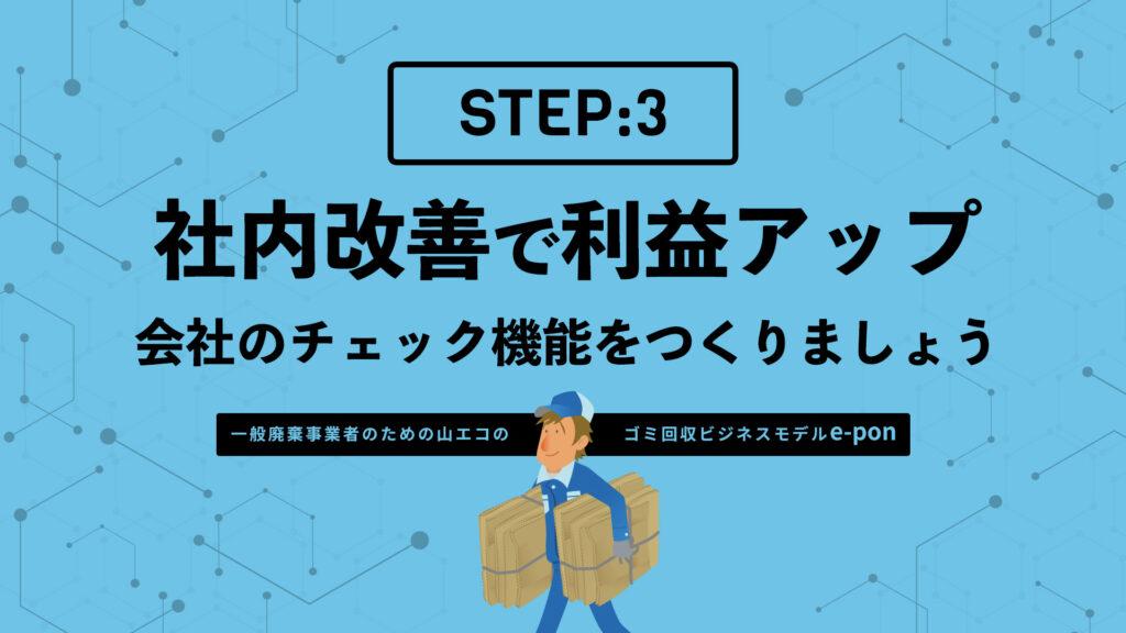 ステップ3:社内改善で利益アップ