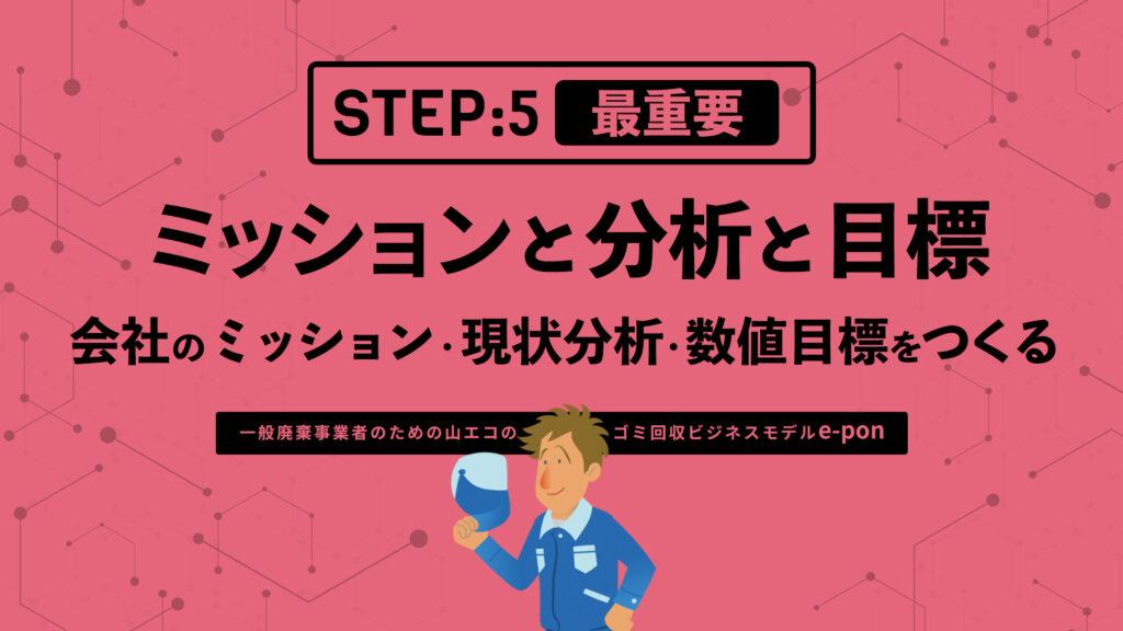 ステップ5:会社のミッション・現状分析・数値目標をつくる